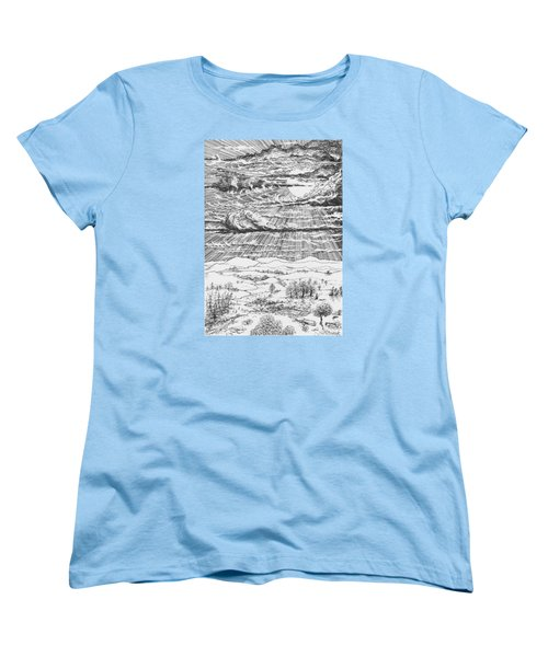 Looming Snowstorm Women's T-Shirt (Standard Cut) by Charles Cater