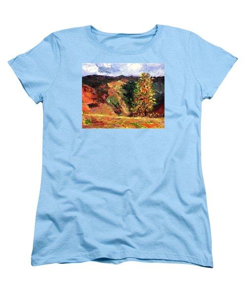 Loose Landscape Women's T-Shirt (Standard Cut) by Janet Garcia