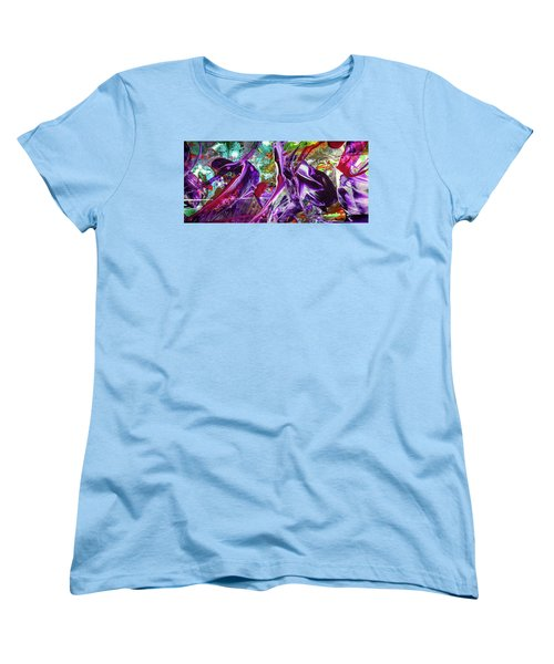 Lord Of The Rings Art - Colorful Modern Abstract Painting Women's T-Shirt (Standard Cut) by Modern Art Prints