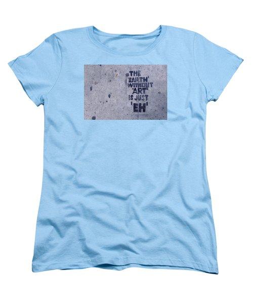Los Angeles Sidewalk Art Women's T-Shirt (Standard Cut) by Ram Vasudev
