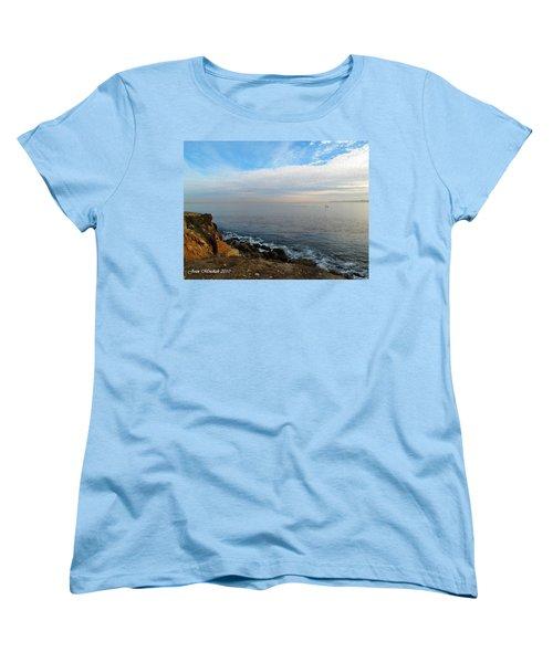 Women's T-Shirt (Standard Cut) featuring the photograph Los Angeles Sunset by Joan  Minchak
