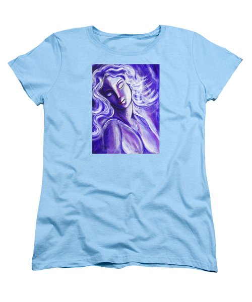 Women's T-Shirt (Standard Cut) featuring the painting Lost In Thought by Anya Heller