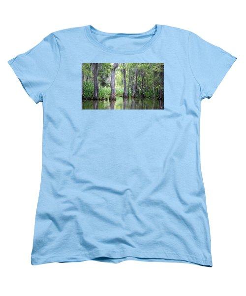 Louisiana Swamp 5 Women's T-Shirt (Standard Cut) by Inspirational Photo Creations Audrey Woods