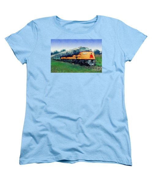 Louisville And Nashville E6a Diesel Locomotive Women's T-Shirt (Standard Cut) by Wernher Krutein