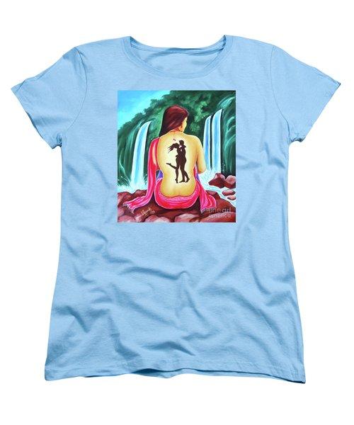 Love And Intimate Women's T-Shirt (Standard Cut) by Ragunath Venkatraman