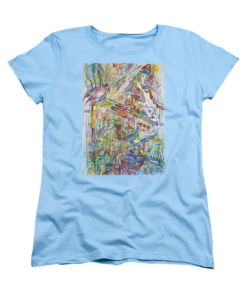 Love And Music Women's T-Shirt (Standard Cut) by Rita Fetisov