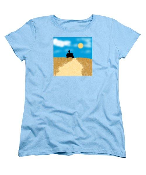 Love Birds Women's T-Shirt (Standard Cut) by Karen Nicholson