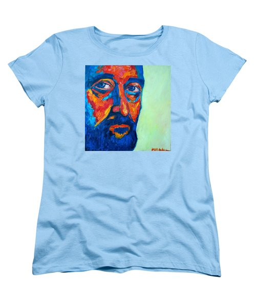 Women's T-Shirt (Standard Cut) featuring the painting Love Him So Much by Ana Maria Edulescu