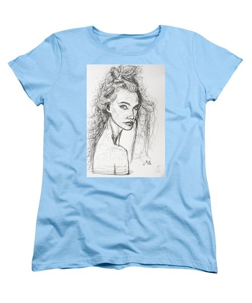 Women's T-Shirt (Standard Cut) featuring the drawing Love Is A Many-splendored Thing by Jarko Aka Lui Grande