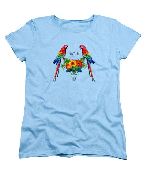 Love My Tea Women's T-Shirt (Standard Cut) by Ericamaxine Price