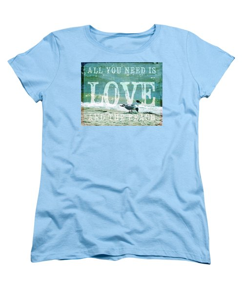 Women's T-Shirt (Standard Cut) featuring the photograph Love The Beach by Jan Amiss Photography