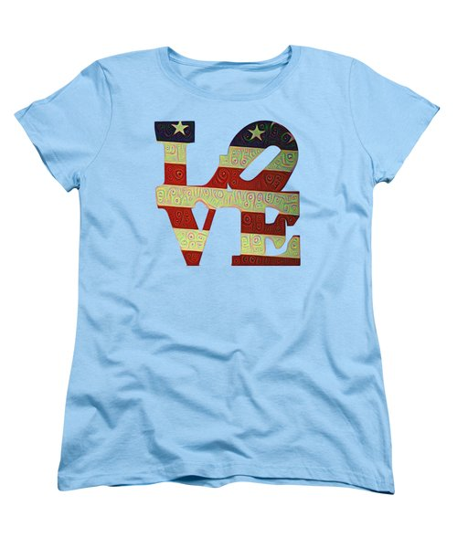 Love The Usa Women's T-Shirt (Standard Cut) by Bill Cannon