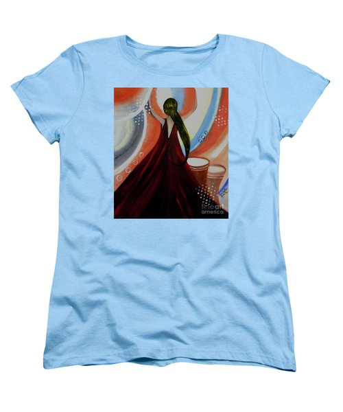 Love To Dance Abstract Acrylic Painting By Saribelleinspirationalart Women's T-Shirt (Standard Cut) by Saribelle Rodriguez