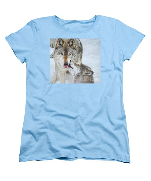 Women's T-Shirt (Standard Cut) featuring the photograph Love You Dad.. by Nina Stavlund