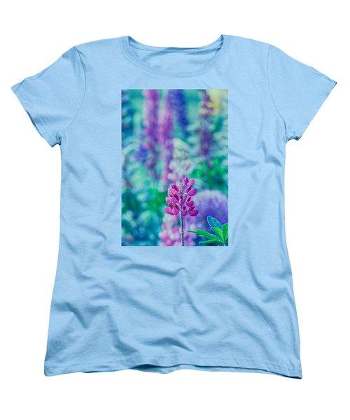 Lovely Lupine Women's T-Shirt (Standard Cut) by Bonnie Bruno