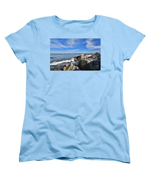 Lovers Point Park Women's T-Shirt (Standard Cut) by Gina Savage