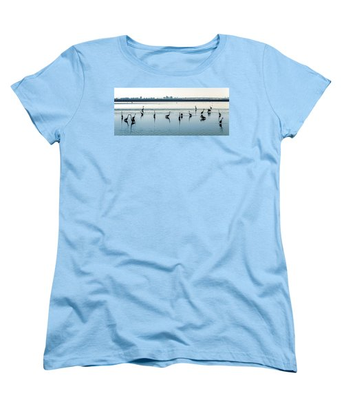 Women's T-Shirt (Standard Cut) featuring the photograph Low Tide Gathering by Steven Sparks