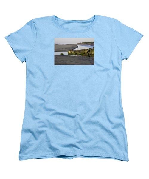 Low Tide On Tybee Island Women's T-Shirt (Standard Cut) by Elizabeth Eldridge