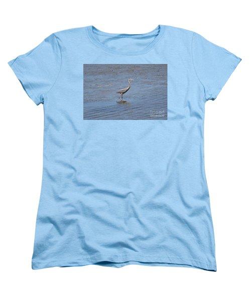 Women's T-Shirt (Standard Cut) featuring the photograph Low Tide Stroll by Carol  Bradley
