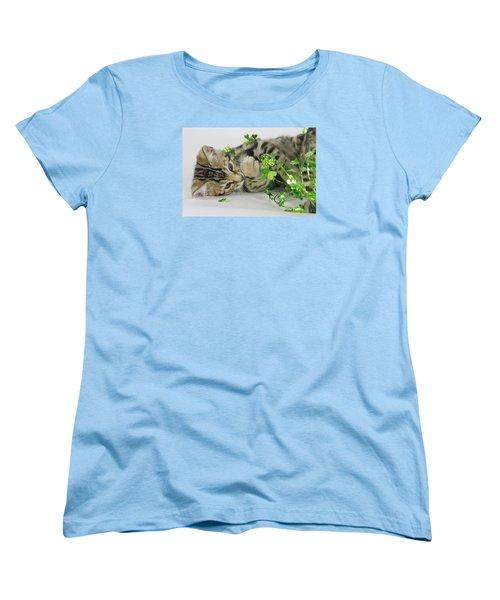 Lucky Kitten Women's T-Shirt (Standard Cut) by Shoal Hollingsworth