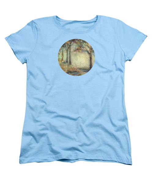 Women's T-Shirt (Standard Cut) featuring the painting Luminous Landscape by Mary Wolf