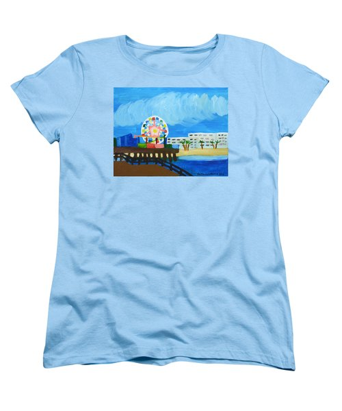 Lyndas Ferris Wheel Women's T-Shirt (Standard Cut) by Anthony Larocca