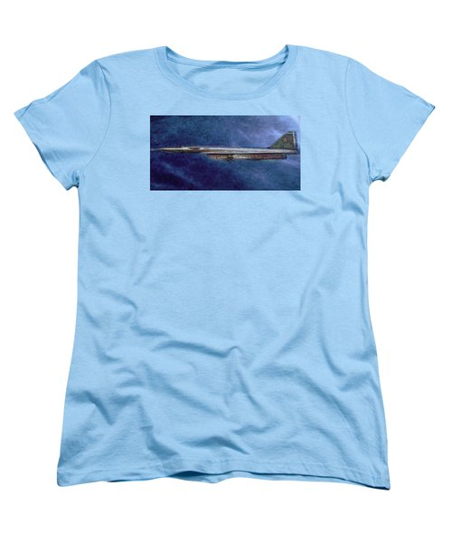 Women's T-Shirt (Standard Cut) featuring the painting M50 Myasishchev  by Michael Cleere