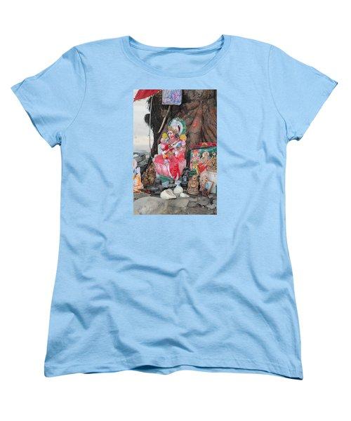 Ma Durga Tree Temple, Haridwar Women's T-Shirt (Standard Cut) by Jennifer Mazzucco