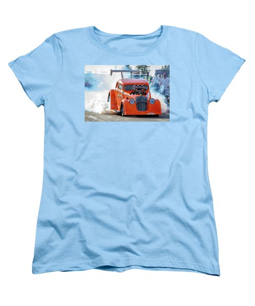 Women's T-Shirt (Standard Cut) featuring the photograph Mad Mike Racing by Bill Gallagher