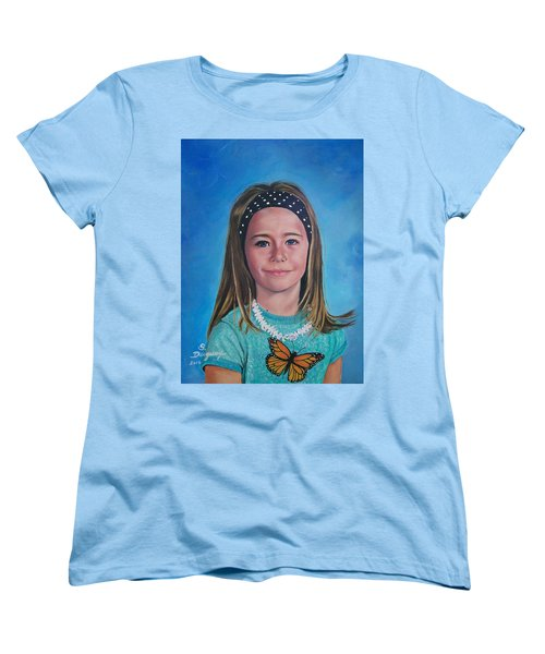 Women's T-Shirt (Standard Cut) featuring the painting Madeline by Sharon Duguay
