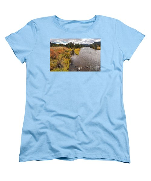 Madison River Women's T-Shirt (Standard Cut) by Cindy Murphy - NightVisions