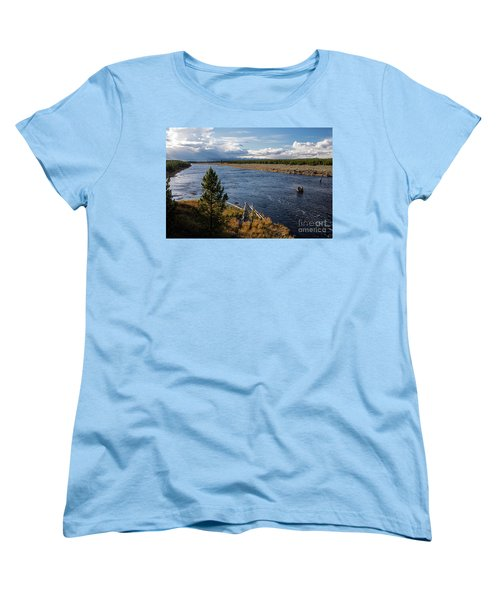 Madison River In Yellowstone National Park Women's T-Shirt (Standard Cut) by Cindy Murphy - NightVisions