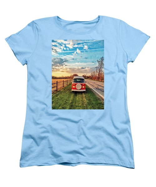 Magic Hour Magic Bus Women's T-Shirt (Standard Cut) by Andrew Weills