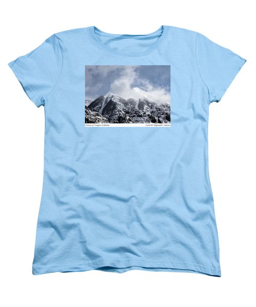 Magnificent Mountains In Telluride In Colorado Women's T-Shirt (Standard Cut) by Carol M Highsmith