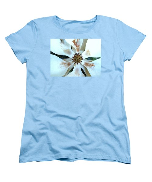 Magnolia Pinwheel Women's T-Shirt (Standard Cut) by Nancy Kane Chapman