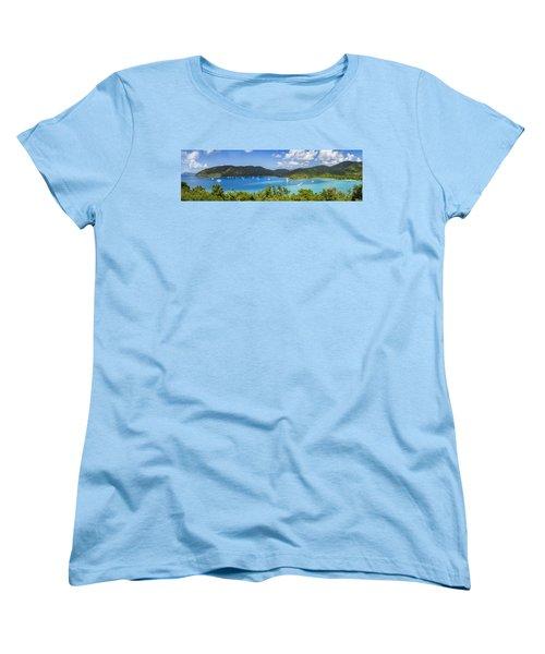Women's T-Shirt (Standard Cut) featuring the photograph Maho And Francis Bays On St. John, Usvi by Adam Romanowicz
