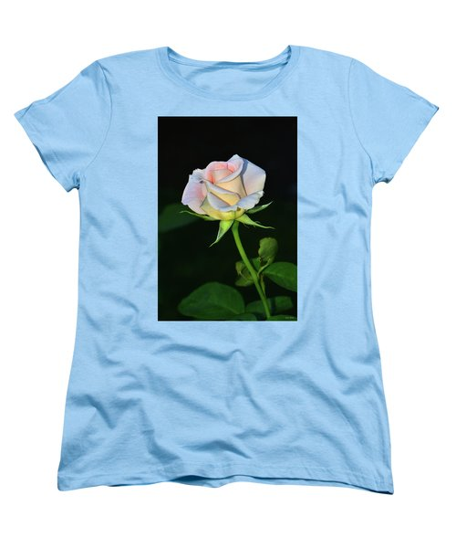 Women's T-Shirt (Standard Cut) featuring the photograph Maid Of Honour Rose 001 by George Bostian