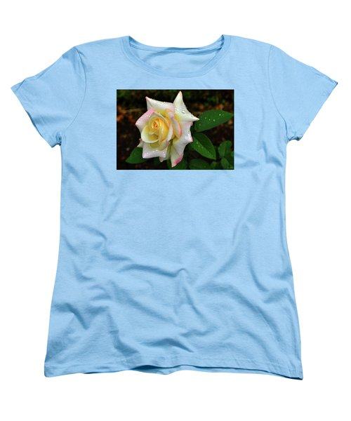 Women's T-Shirt (Standard Cut) featuring the photograph Maid Of Honour Rose 003 by George Bostian