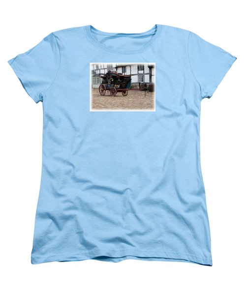Women's T-Shirt (Standard Cut) featuring the digital art Mail Coach At Lacock by Paul Gulliver