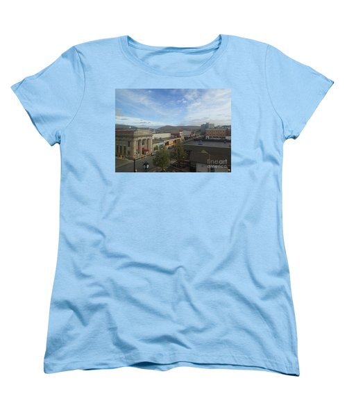 Main St To The Mountains   Women's T-Shirt (Standard Cut) by Christina Verdgeline