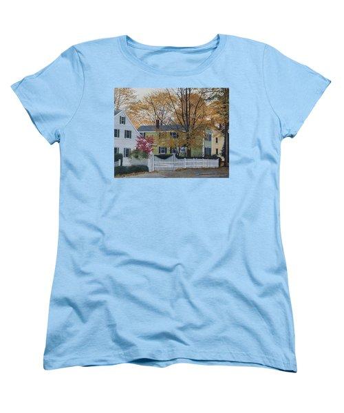 Autumn Day On Maine Street, Kennebunkport Women's T-Shirt (Standard Cut) by Barbara Barber