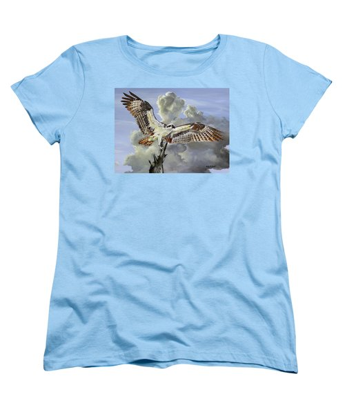 Majestic Sea Hawk Women's T-Shirt (Standard Cut) by Phyllis Beiser