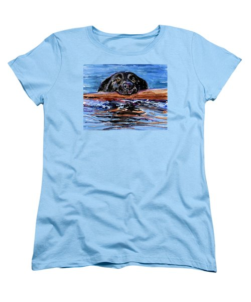 Women's T-Shirt (Standard Cut) featuring the painting Make Wake by Molly Poole