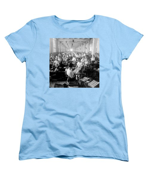Making Money At The Bureau Of Printing And Engraving - Washington Dc - C 1916 Women's T-Shirt (Standard Cut) by International  Images