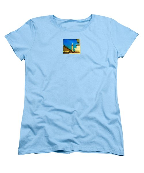 Women's T-Shirt (Standard Cut) featuring the photograph Malamoccoskyline No1 by Anne Kotan