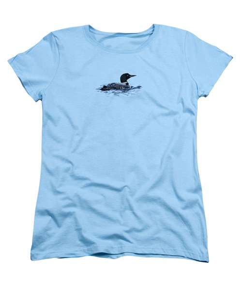 Male Mating Common Loon Women's T-Shirt (Standard Cut)