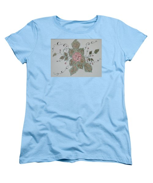Women's T-Shirt (Standard Cut) featuring the drawing Mama Rose And Her Babies by Sharyn Winters