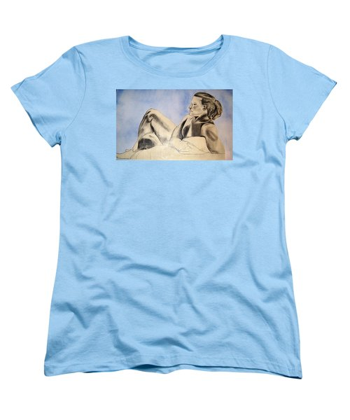 Man In Recline Women's T-Shirt (Standard Cut) by Angela Murray