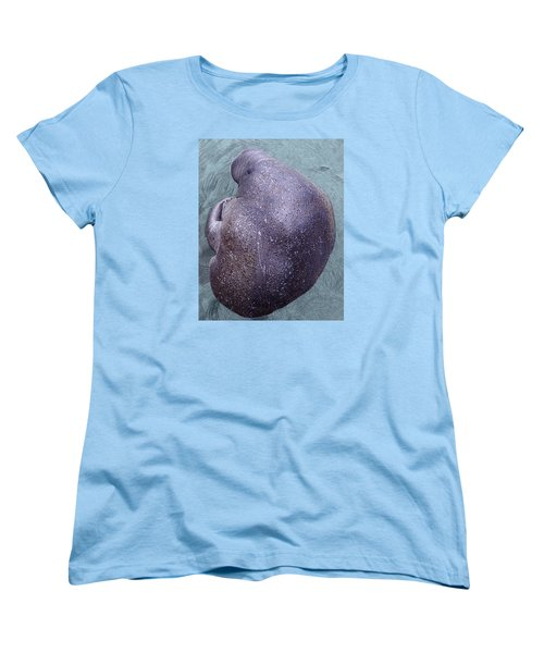 Manatee Seen From Dock- Up Close  2 Women's T-Shirt (Standard Cut) by Penny Lisowski