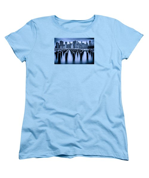 Women's T-Shirt (Standard Cut) featuring the photograph Manhattan Blues by Chris Lord